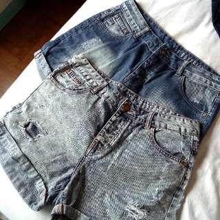 co denim boyfriend shorts