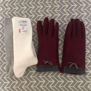 Winter Gloves & Long Socks