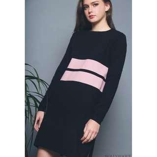 462240a9e1 HOLLYHOQUE LETTIE COLOURBLOCK DRESS BLACK