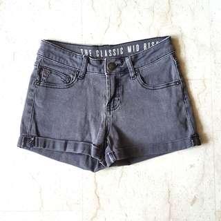 #single11 CO Faded Grey Mini Shorts
