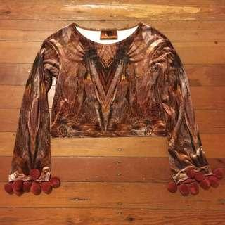 Liberated Heart velvet crop top