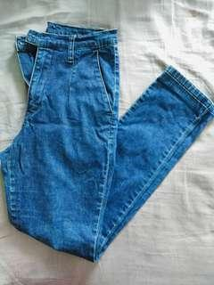 High-Waisted Cheap Monday Jeans