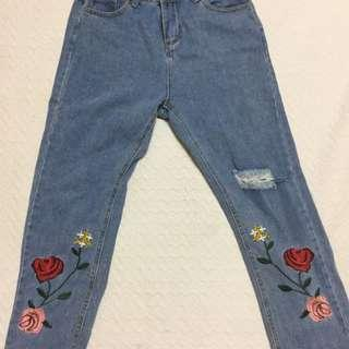 *Price Reduced* embroidery jeans