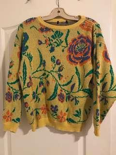 Vintage Floral Sweater | Size S/M