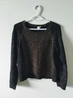 H&M Black and Gold Sweater