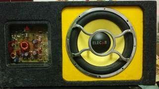 Elecar 德國品牌12吋主動式重低音喇叭 active subwoffer