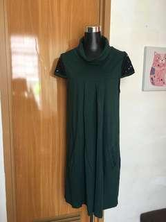 Green Cowl Dress