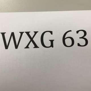car plate number WXG 63