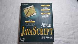 Javascript book learn java one week
