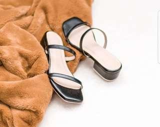 Coco x Fifi 1 inch slip on block heel sandals