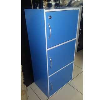Cabinet 3 Layers with Door and Lock DarkBlue