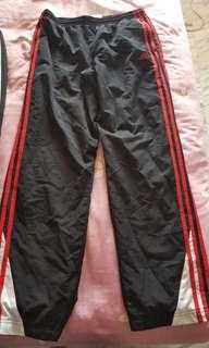 Adidas Track Pants with  Red Stripes