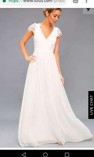 Lulus Summer wedding dress or balldress