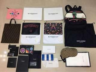 名牌 items, all authentic, new or used Givenchy Fendi Balenciaga YSL Saint Laurent Gucci Kenzo
