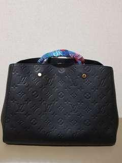 LV Montaigne MM Size Monogram Empreinte Leather(Not Chanel/Hermes/Gucci)