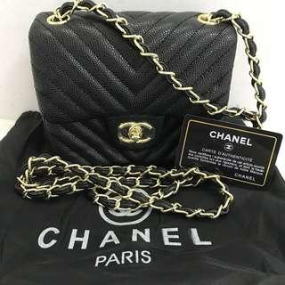Chanel Chevron Caviar