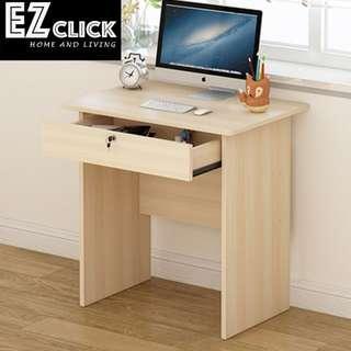 Maple table with lock w70cmxd48xh72cm