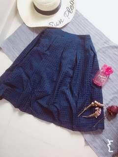 Retro Pleated Grid skirt