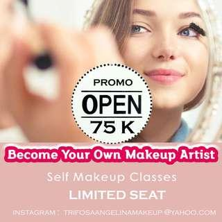 Self makeup class bandung utara 75k / person murah