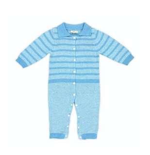 Cigogne BeBe polo collar knitted romper 6-12month