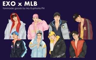 EXO x MLB Fanmade Goods
