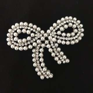 Rhinestones Brooch Ribbon