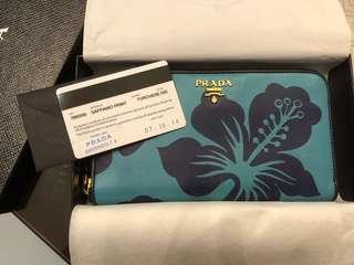 authentic prada zippy wallet