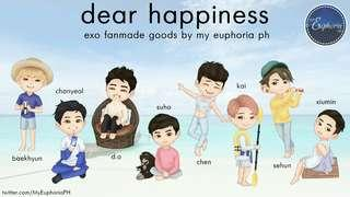 EXO DEAR HAPPINESS Fanmade Goods