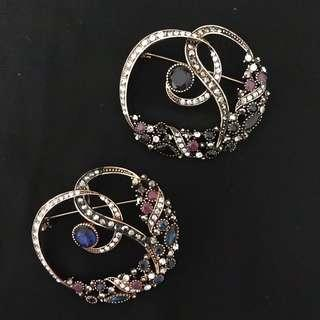 Rhinestones Brooch Turkish