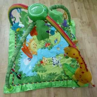 Fisher Price Rainforest Melodies And Lights Deluxe Gym Playmat