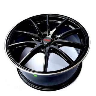 "17"" gloss black rims for honda, Toyota, Hyundai, mitsubishi"
