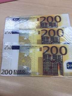🚚 歐元長夾 假鈔