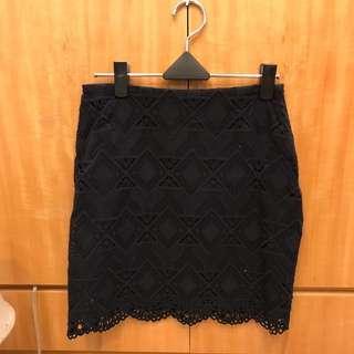 🚚 《全新》正韓黑色蕾絲短裙