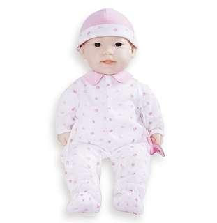 "BN JC Toys 16"" La Baby Soft Body Doll Asian by Berenguer (Spain)"