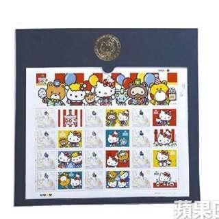 會場限定!絕版! 2014 Hello Kitty Go Around 紀念郵票及紀念幣
