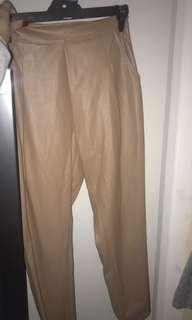 Mossman brown leather pants size 8