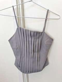 Grey Cropped Top / Singlet
