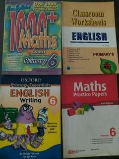 Singapore math and English textbook set
