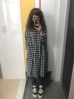 正韓 格子洋裝