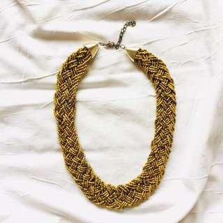 Gold Mustard Necklace