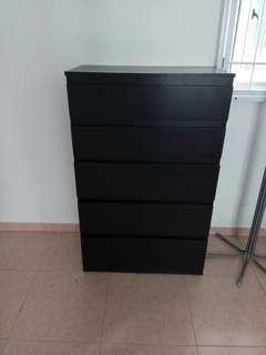 Black wooken rack