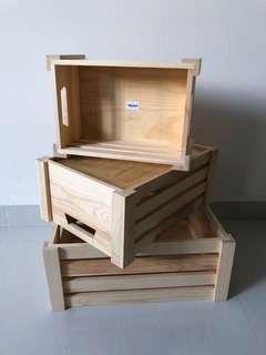 Rental Promo!! 3 in 1 Wooden Crate