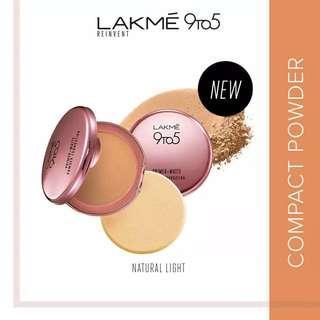 Lakme 9to5 Reinvent Primer + Matte Powder Foundation Compact - Natural Light