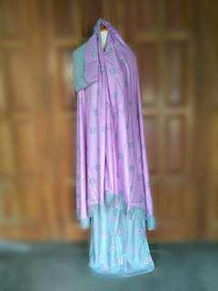 Mukena rayon motif sahla ungu