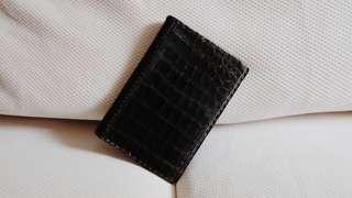 復古鱷魚皮護照套 Vintage Crocodile Leather Passport Case