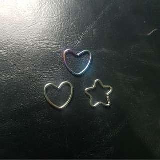 INSTOCK Heart / Star Earrings