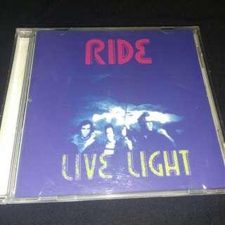 CD Ride. Live light. Japan import.