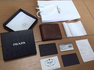 Authentic Prada Men Wallet full set with receipt