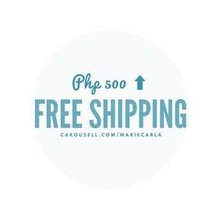 Free Shipping Php 500⬆