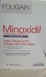 🚚 BNIB Foligain Minoxidil 5% (low alcohol)